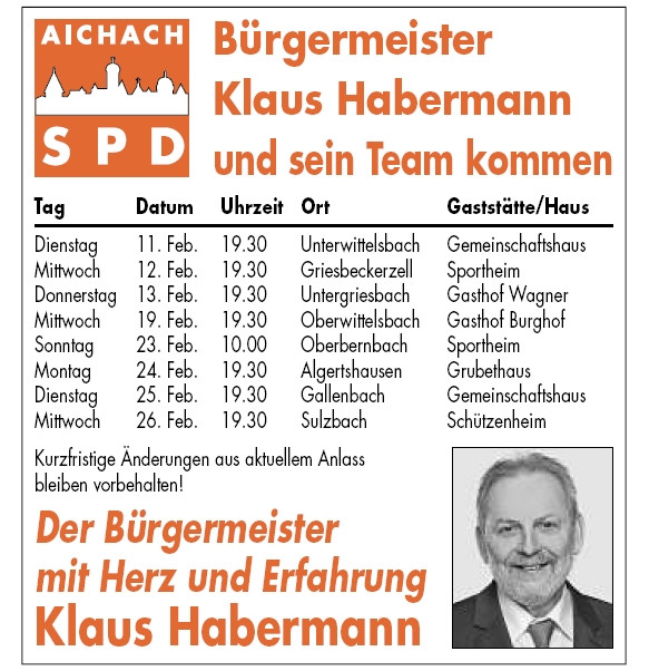 Ortsteile-Tour 2014 der SPD Aichach, Teil 2