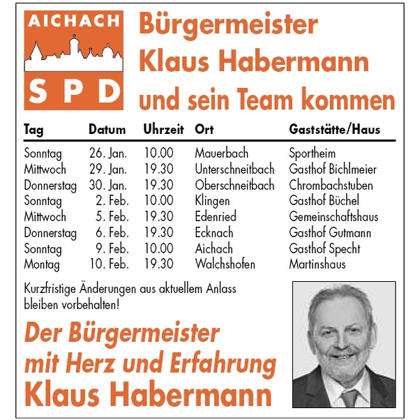 Ortsteile-Tour 2014 der SPD Aichach, Teil 1