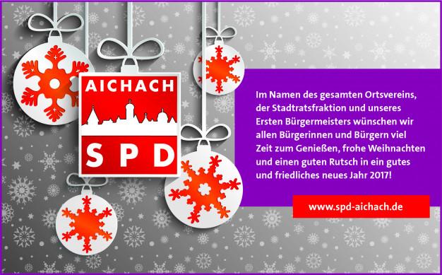 SPD Aichach - Anzeige Weihnachtsgrüße 2016