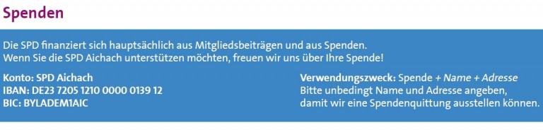 Spenden an die SPD Aichach
