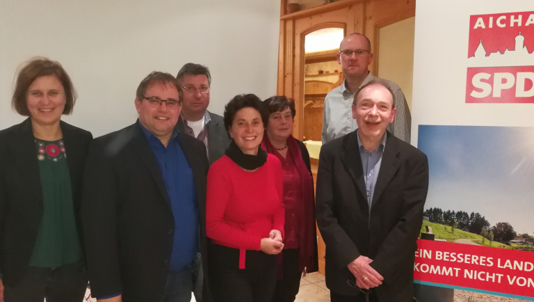 SPD Aichach - neuer Vorstand 2017-11-24