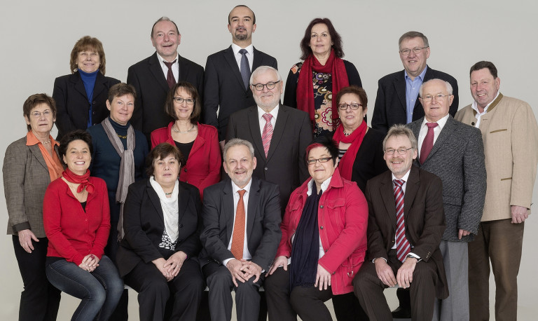 Gruppenbild der Kreistagskandidaten