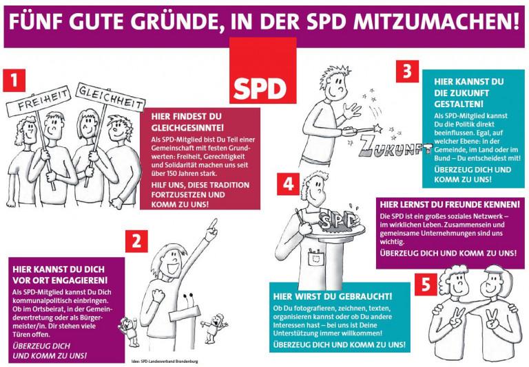 Fünf Gründe, in der SPD mitzumachen!