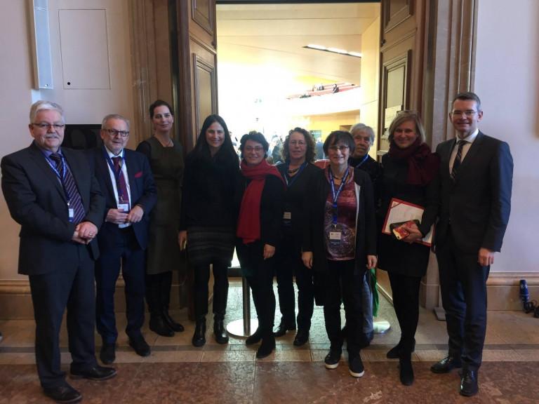 Delegation zu Gesprächen in Sachen Geburtsstation Aichach im Landtag (Januar 2019) 1